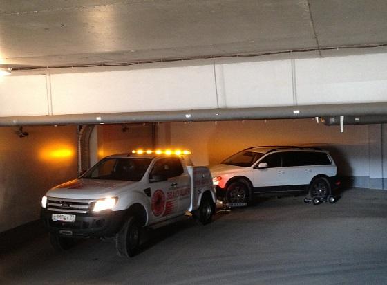 Эвакуация из паркинга